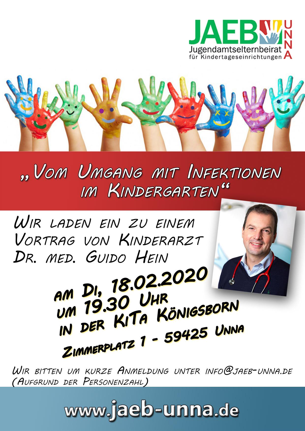 """Vortrag """"Umgang mit Infektionen im Kindergarten"""" @ Kita Königsborn"""